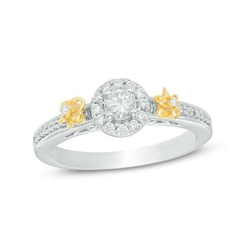 Zales double flower engagement ring ($424, originally $499