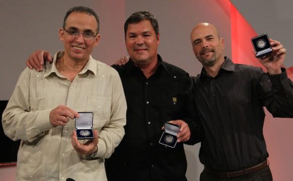 Gerardo Hernández (D), Ramón Labañino (C) y Antonio Guerrero (I) . Foto: Ismael Francisco/ Cubadebate