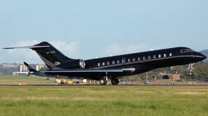 6. Bombardier BD-700 Global Express (Celine Dion) - $ 47.7 million. Businessmen billionaires, aircraft, private planes