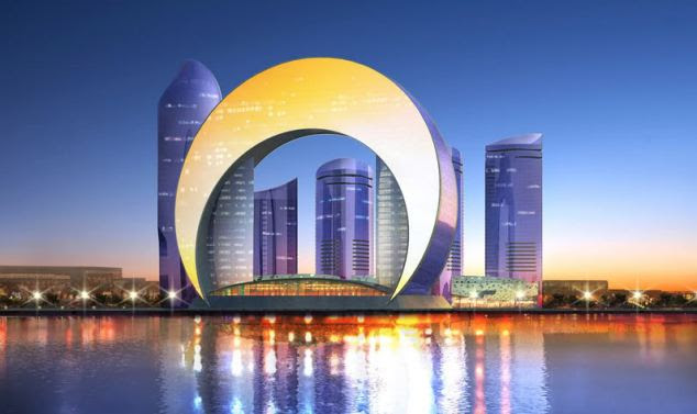 Challenge to Dubai: The towers being designed by a South Korean architectural firm will revolutionise life on the banks of the Caspian Sea