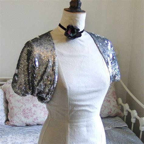 Sequin shrug, bolero, silver, flapper 1920's style   Style
