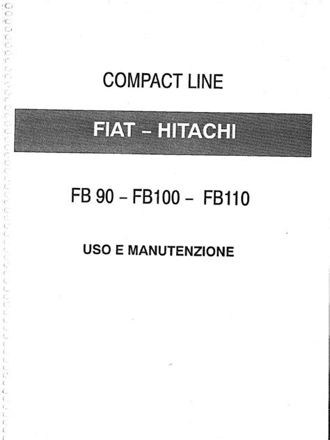 Manual Del Oparador Fiat Hitachi FB110