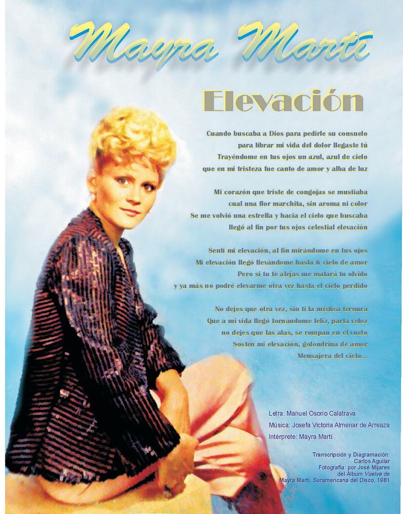 Afiche Elevación Mayra Marti anarillo