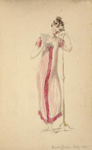 [Ball dress, July 1810.] Digital ID: 1111640. New York Public Library