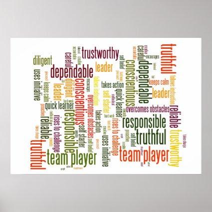 Motivational Words #4 positive values Print