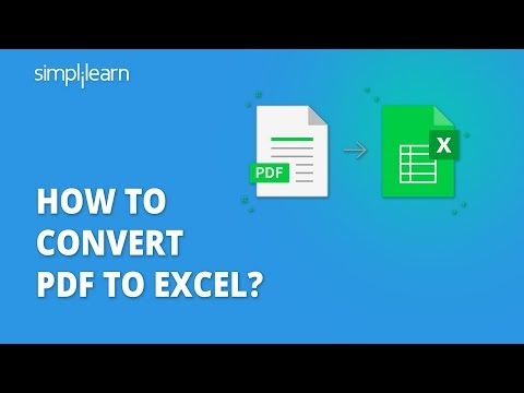 How To Convert PDF To Excel | PDF To Excel Conversion | Import PDF To Excel | Simplilearn