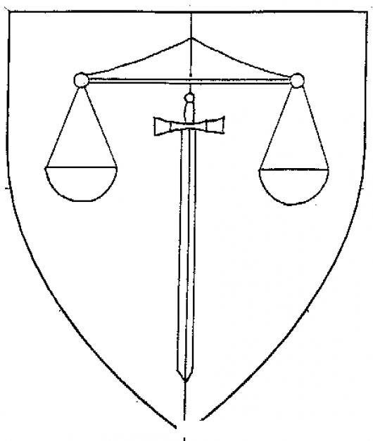 Escudo De Justicia Para Pintar Y Colorear Colorear Dibujos Varios