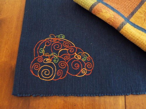 Autumn Pumpkin Placemats