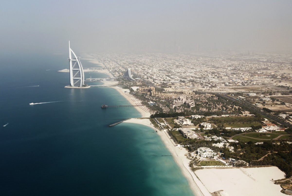 3. Burj Al Arab - the fourth among the tallest hotels in the world, dominates the horizon.  in the world, Dubai, Beauty