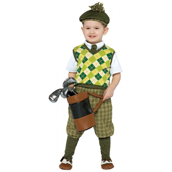 future golfer golf caddy costume