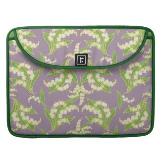 MacBook Pro Sleeve: Lilies of the Valley, Mauve