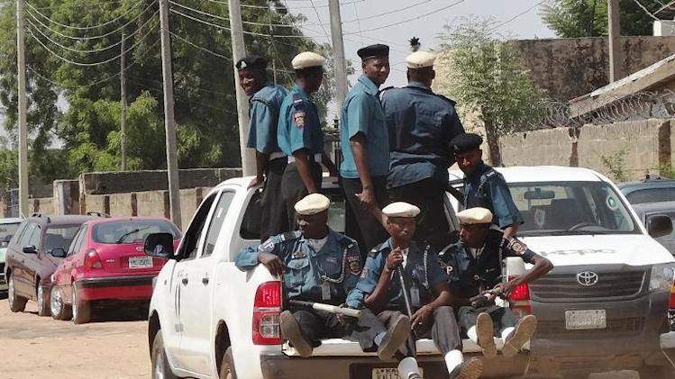 A team of Islamic sharia enforcers on patrol in the northern Nigerian city of Kano on October 29, 2013