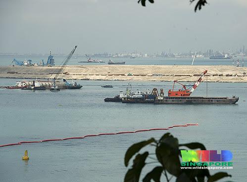 Massive reclamation for Pasir Panjang Container Terminal off Labrador