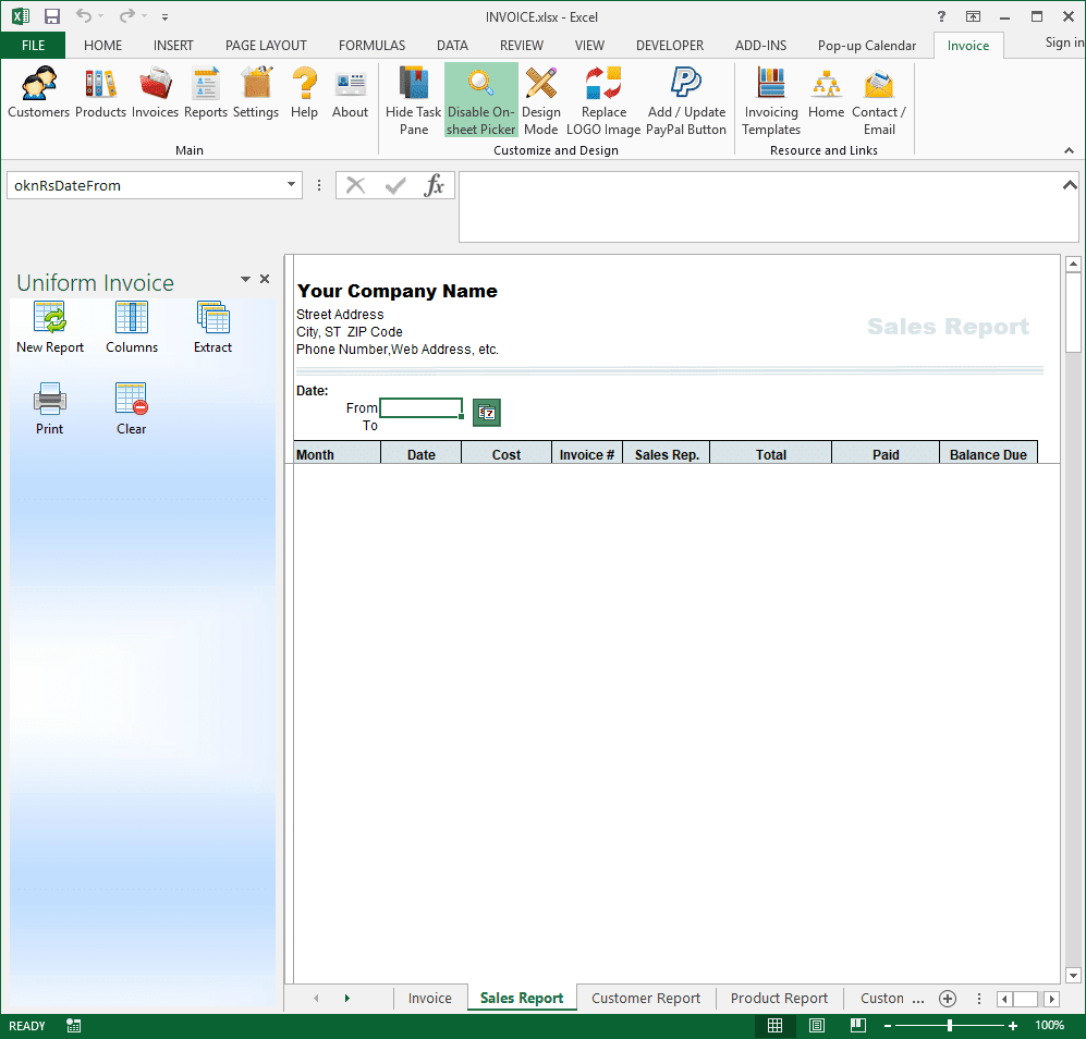 Report Excel Template. expense software from this window you can ...