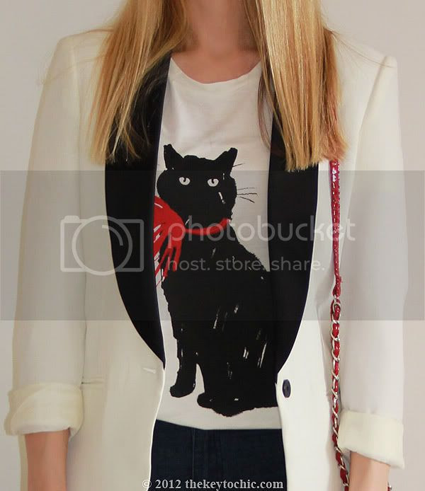 Jason Wu for Target cat print T-shirt, Milu cat shirt