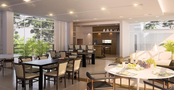 O salão de festa como extensão do apartamento