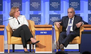 DAVOS/SWITZERLAND, 24JAN08 - Tzipi Livni, Vice-Prime Minister and Minister of Foreign Affairs of Israel and Salam Fayyad, Prime Minister of the Palestinian National Authority, captured during the session 'Middle East: After Annapolis, After Paris' at the Annual Meeting 2008 of the World Economic Forum in Davos, Switzerland, January 24, 2008.  Copyright by World Economic Forum    swiss-image.ch/Photo by Andy Mettler +++No resale, no archive+++