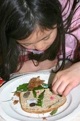 Sophia with Fossil Sandwich