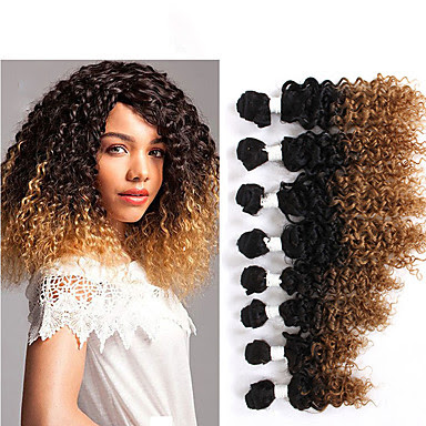 curly weave human hair 14pieces ombre bown burgundy virgin ...