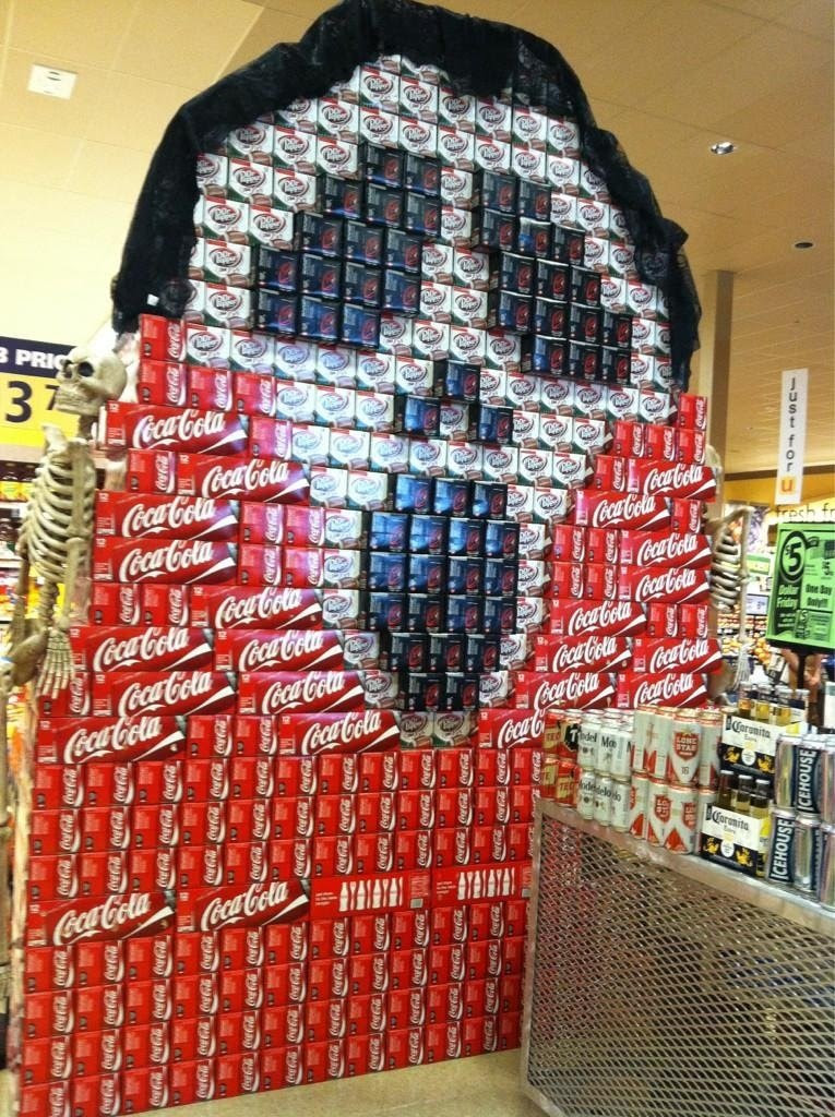 25 Examples of Halloween Retail Displays to Inspire You - Giant Scream Soda Display - Halloween Retail Displays - Halloween Retail Ideas - Halloween Display Ideas