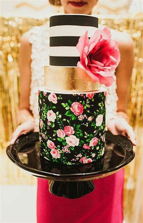 Modern Wedding Cakes with Clean Lines by Hey There