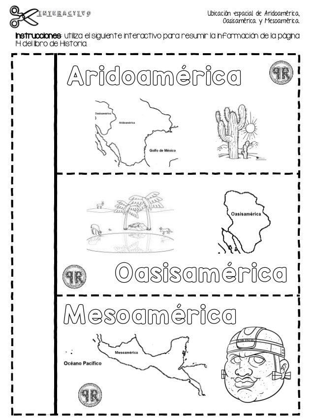Mapa De Mesoamerica Y Aridoamerica Para Colorear - Mi escuelita multigrado: Historia