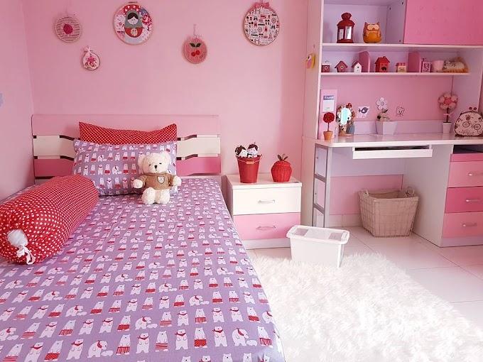 Contoh Desain Kamar Tidur Anak Perempuan Minimalis