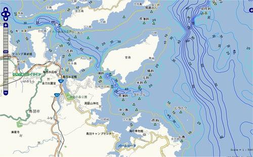 釣りポイント(三重県、鳥羽市、菅島)