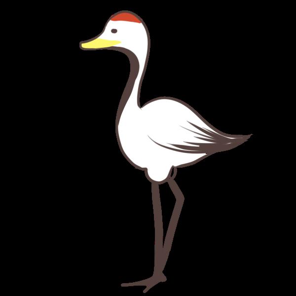 鶴のイラスト かわいいフリー素材が無料のイラストレイン