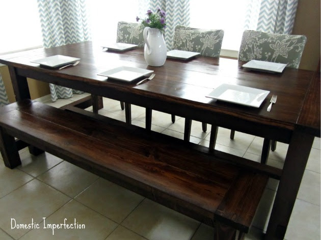 DIY Farmhouse Table and Bench — Domestic Imperfection