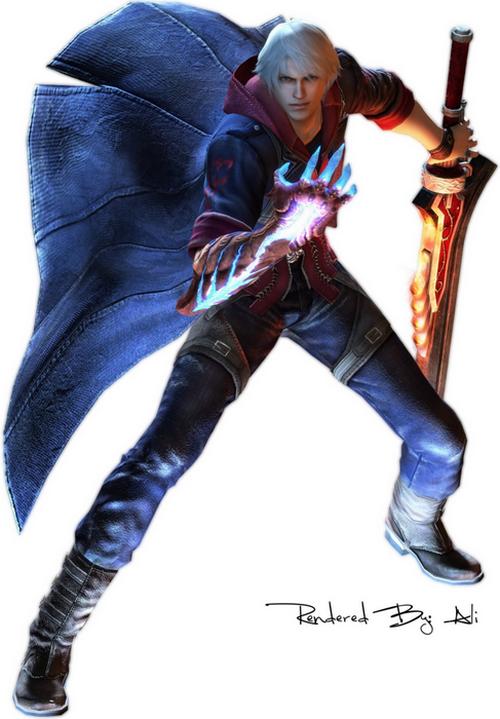 2 nero devilmaycry4 Top 20 personagens masculinos mais bonitos dos games