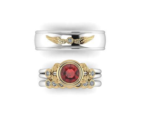 3 piece harry potter ring set