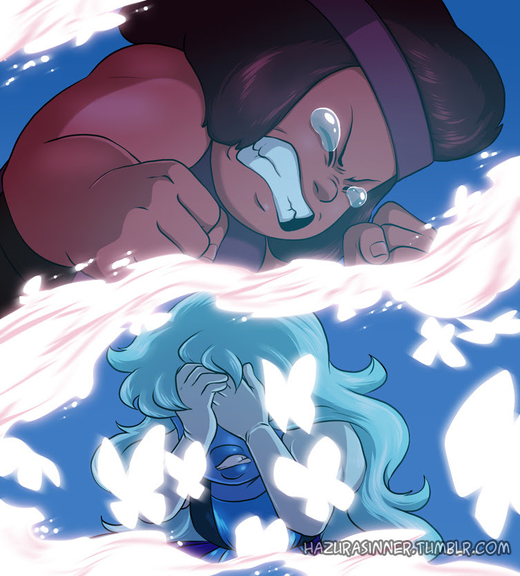 """""""Take a moment to ask yourself If this is how we fall apart"""" Finally caught up with Steven Universe, and all I have to say is OUcH my heart!! Please reblog, do not repost! Steven Universe © Rebecca..."""