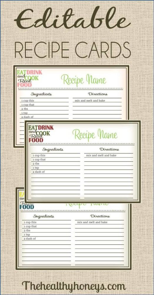 1000+ ideas about Printable Recipe Cards on Pinterest | Recipe ...