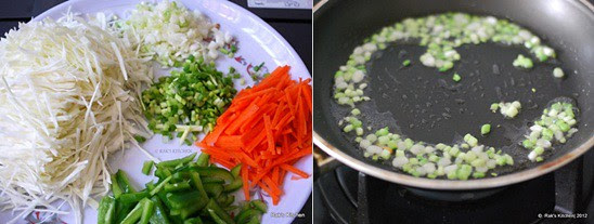 How to make hakka noodles step2