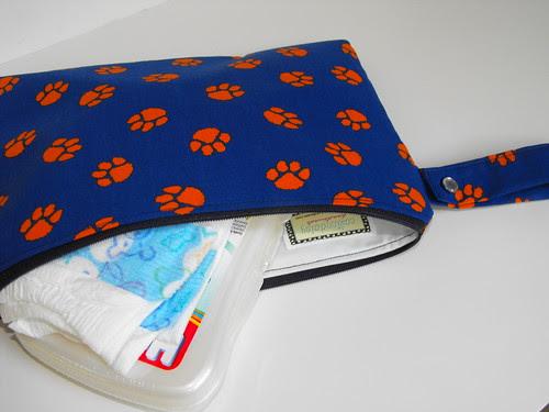 Clemson Diaper Clutch, Cosmetic Bag