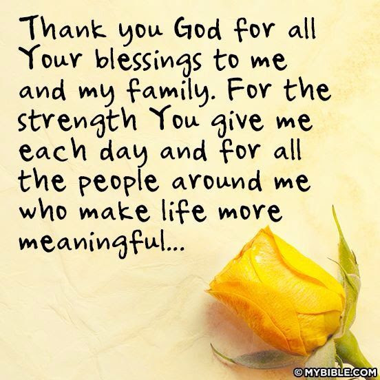 Quotes About Thanks And Family 21 Quotes
