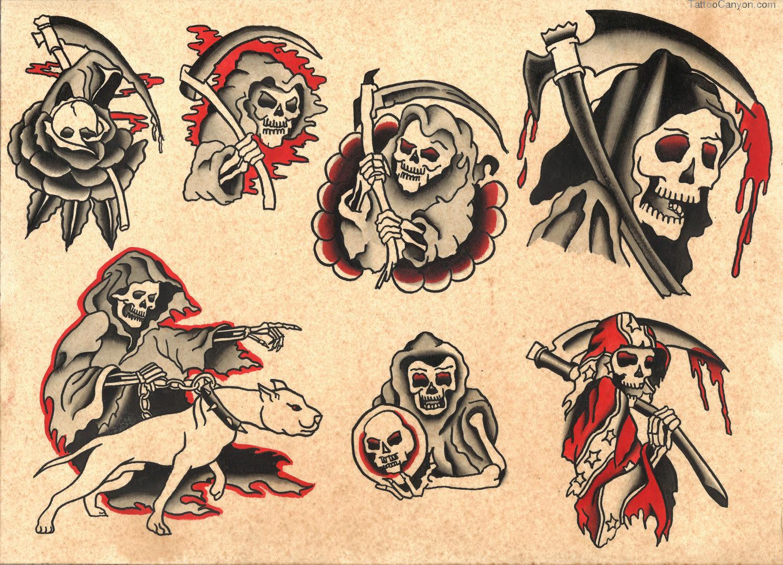 Traditional Grim Reaper Tattoo Designs
