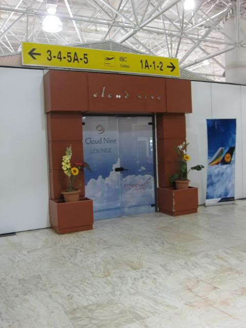 The entrance to the Cloud 9 lounge at Bole
