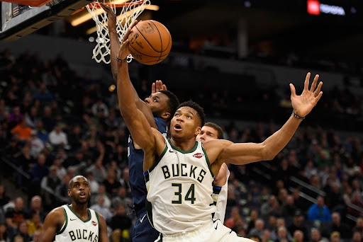 Avatar of Giannis Antetokounmpo grabbing rebounds at a near historic rate