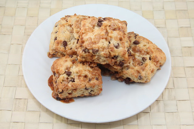 Chocolate Toffee Scones