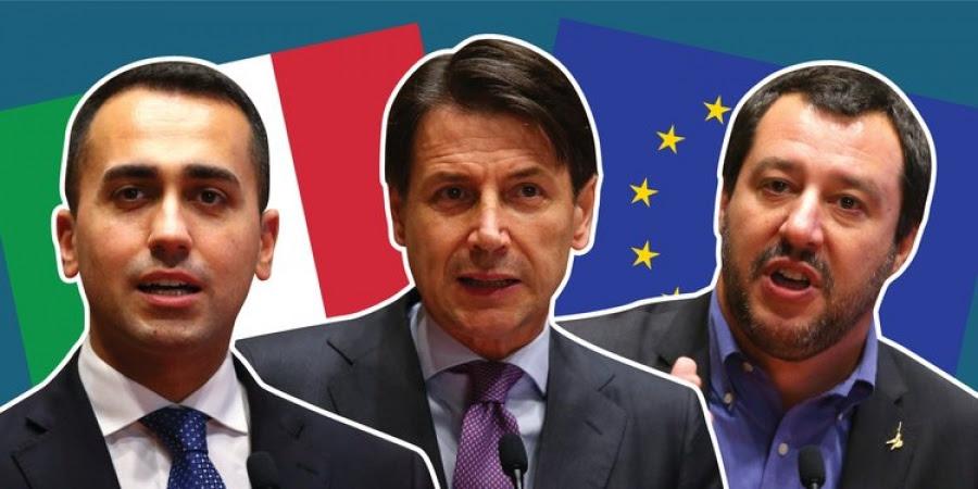 Ιταλία: Συμφωνία Conte – Salvini – Di Maio για την ανάγκη να αποτραπούν οι κυρώσεις της ΕΕ ... με διαφωνίες για τα μέτρα