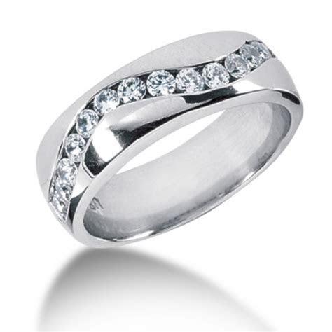 14kt, palladium, platinum, mens diamond wedding band # MR1204