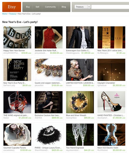 Etsy Treasury - New Year's Eve - Let's party!