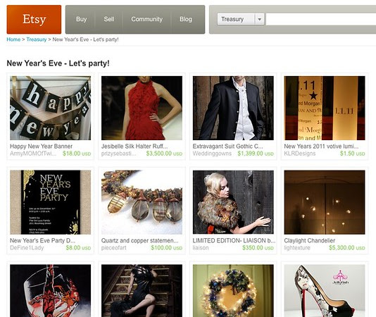 Etsy Treasury: New Year's Eve – Let's Party