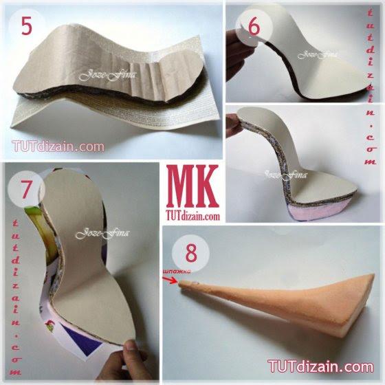 Сувенирная туфелька своими руками