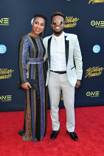 Travis Greene and Wife - 33rd Annual Stellar Gospel Music Awards