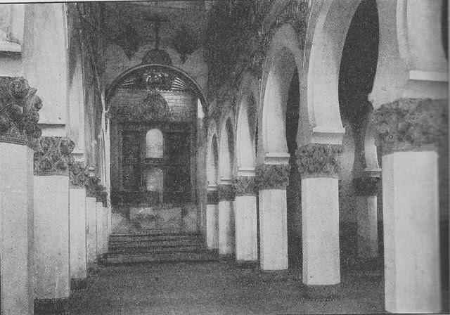 Sinagoga de Santa María la Blanca hacia 1915. Fotografía de Edward Manuel Newman. The Hispanic Society of America