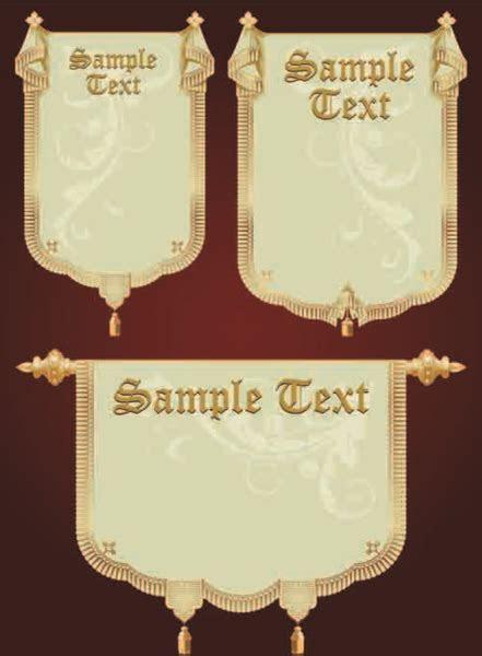 Set of royal banner design vector Free vector in