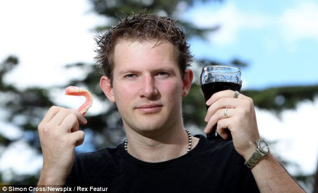 Addict: William Kennewell has lost all his teeth at the age of 25 because of an addiction to drinking cola